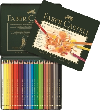 Picture of Faber Castell Polychromos Artist Colour Pencil set of 24