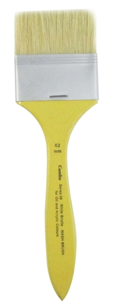Picture of CAMEL S-58 WHITE BRISTLE WASH BRUSH WIDTH 6.25cms