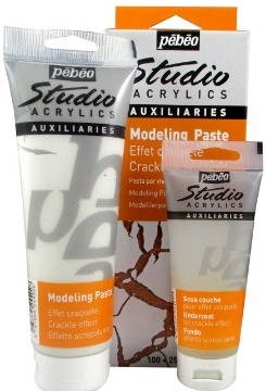 Picture of Pebeo Studio Modeling Paste Crackling Effect Kit