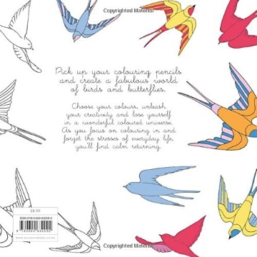 Picture of BIRDS & BUTTERFLIES: COLOURING FOR MINDFULNESS
