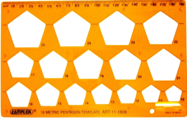 Picture of Complex 16 Metric Pentagon Template 1806