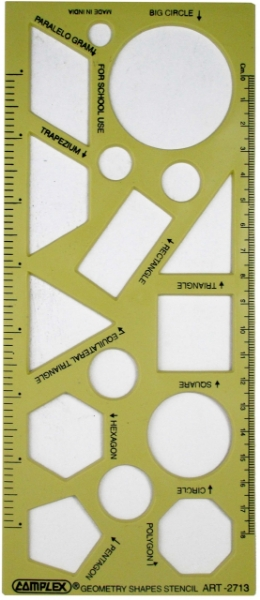 Picture of Complex Geometry Shapes Stencil 2713