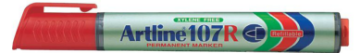 Picture of Artline 107R Refillable Permanent Marker Red 1.5mm