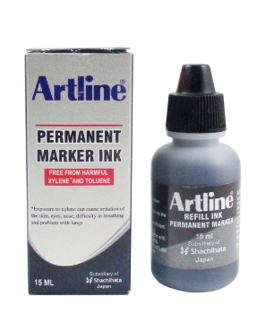 Picture of Artline Permanent Marker Ink Black 15ml