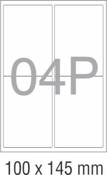 Picture of Novajet Multipurpose Self Adhesive Labels 100mm x 145mm (04P)