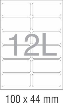 Picture of Novajet Multipurpose Self Adhesive Labels 100mm x 44mm (12L)