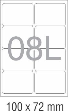 Picture of Novajet Multipurpose Self Adhesive Labels 100mm x 72mm (08L)