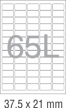 Picture of Novajet Multipurpose Self Adhesive Labels 37.5mm x 21mm (65L)