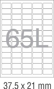 Picture of Novajet Multipurpose Self Adhesive Labels 37.5mm x 21mm (65L)