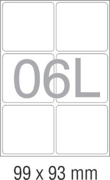 Picture of Novajet Multipurpose Self Adhesive Labels 99mm x 93mm (06L)