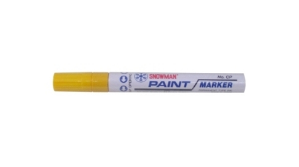 Picture of Snowman Oil Marker 4.5 mm Colours - Yellow