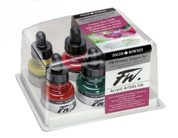 Picture of Daler Rowney FW Primary Colours Set of 6