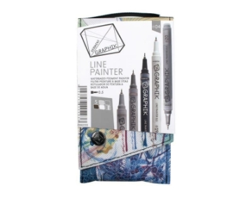 Picture of Derwent Graphik Line Painter Pen Set of 5 (#04)