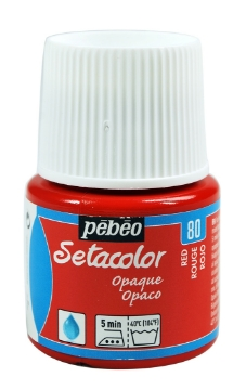 Picture of PEBEO SETACOLOUR OPAQUE 45ML RED(80)
