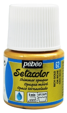 Picture of PEBEO SETACOLOUR OPAQUE SHIMER 45ML RICH GOLD(62)