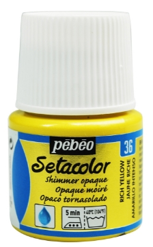 Picture of PEBEO SETACOLOUR OPAQUE SHIMER 45ML RICH YELLOW(36)