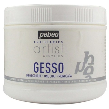 Picture of PEBEO Artist Acrylic Gesso White (Single Coat) 500ml Jar
