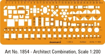 Picture of Isomars Architect Furniture Template 1854 (1:200)