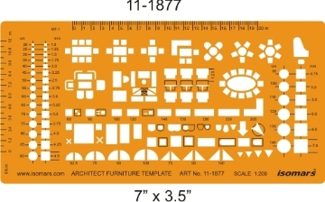 Picture of Isomars Architect Furniture Template 1877 (1:200)