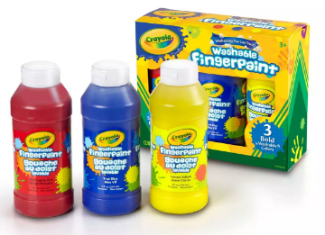 Picture of Crayola Washable Finger Paint 3 Bottles
