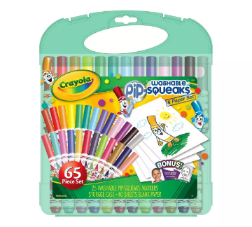 Picture of Crayola Washable Pip Squeaks Markers & Paper Set 65 Pieces