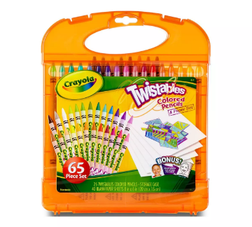 Picture of Crayola Twistable Colored Pencils & Paper Set 65 Piece Set