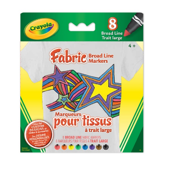 Picture of Crayola Fabric Broad Line Markers 8