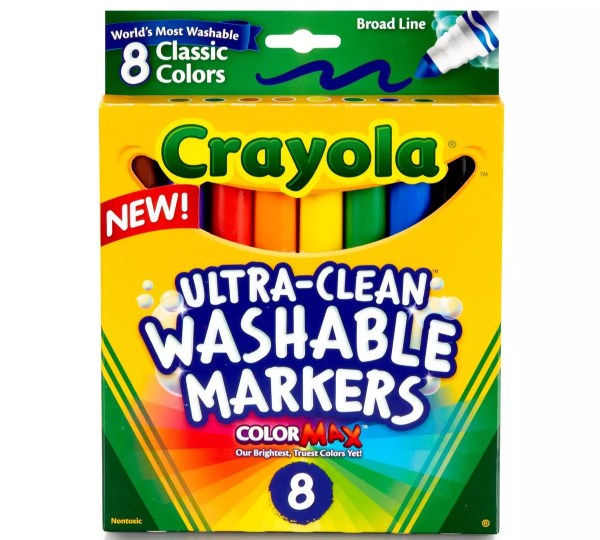 Picture of Crayola Ultra Clean Washable Markers 8 - Broad Line