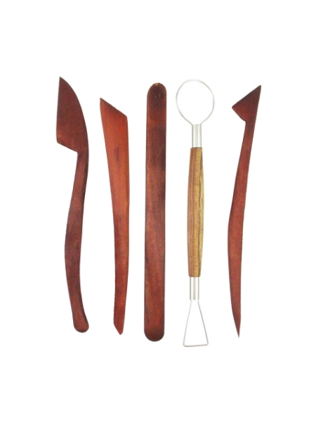 Picture of Clay Modelling Wooden Tool Set 5