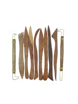 Picture of Clay Modelling Wooden Tool Set - Set of 10