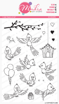 "Picture of Mudra Photopolymer Stamps - Cutie Tweety 6""x4"""