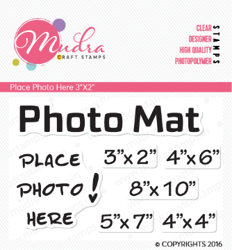 "Picture of Mudra Photopolymer Stamps - Place Photo Here 3""x2"""