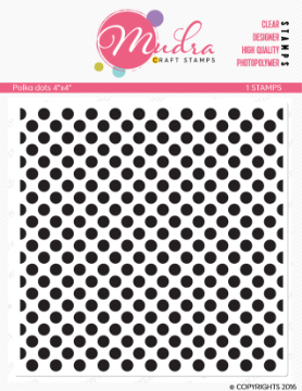 "Picture of Mudra Photopolymer Stamps - Polka Dots 4""x4"""