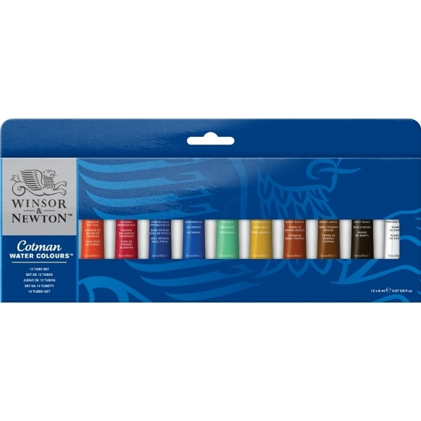 Picture of WN Cotman Watercolour Set of  12 Tubes x  8ml