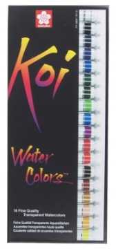 Picture of Sakura Koi Watercolour Tubes Set of 18 x12ml