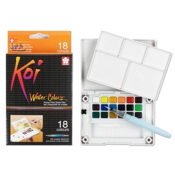 Picture of Sakura Koi Watercolour Cakes Set of 18 (Field Kit)
