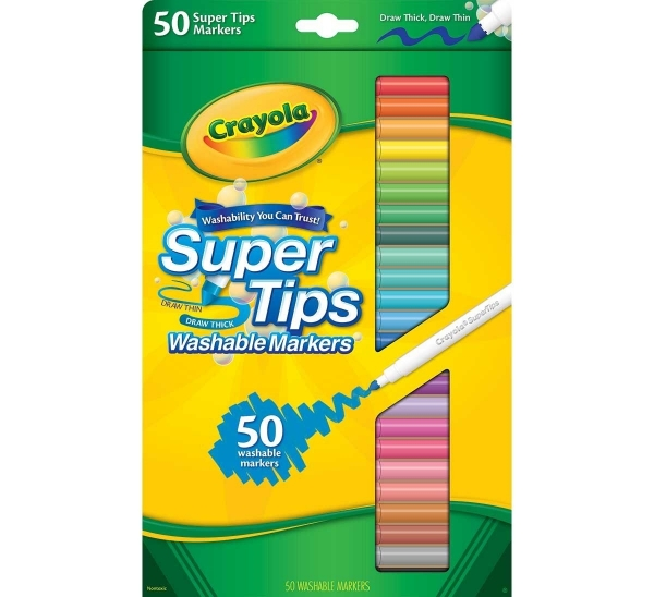 Picture of Crayola Super Tips Washable Markers Set of  50