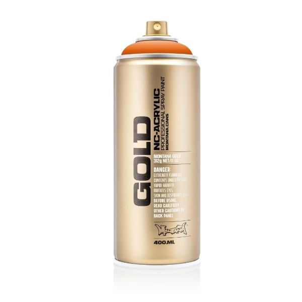 Picture of Montana Gold 400ml Spray Paint Orange - 2070