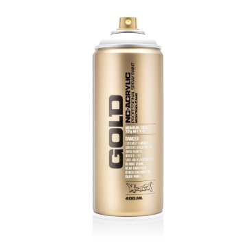 Picture of Montana Gold Shock 400ml Spray Paint Shock White Pure - S9120