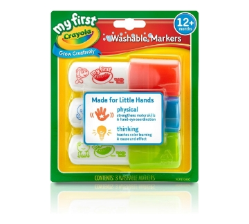 Picture of Crayola Easy Grip Washable Marker Set of 3