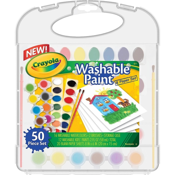 Picture of Crayola Washable Paint Kit & Paper Set of 50 Pieces