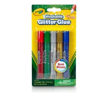 Picture of Crayola Washable Glitter Glue Set of 5 (Bold Blazes)