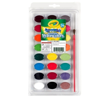 Picture of Crayola Washable Watercolor Pan Set of 24 Colours