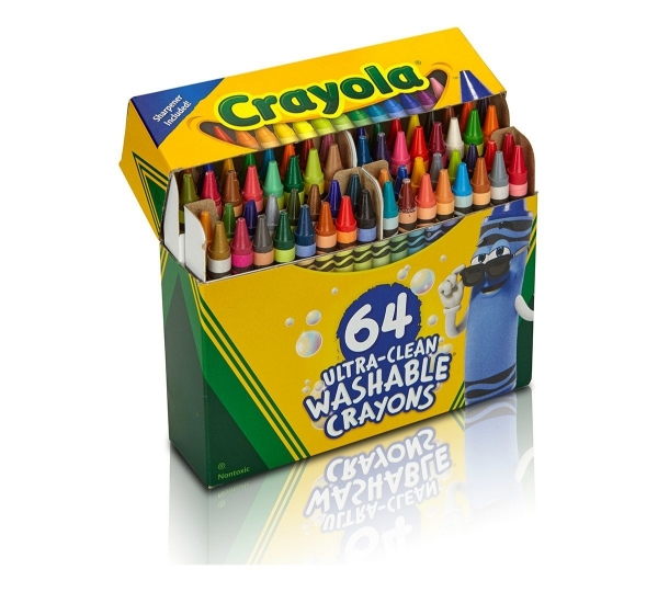 Picture of Crayola Ultra-Clean Washable Crayons Set of 64
