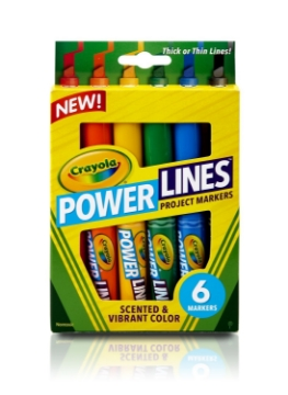 Picture of Crayola Power Lines Project Markers Set of 6