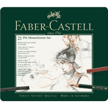 Picture of Faber Castell Pitt Monochrome Set of 21
