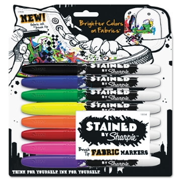 Picture of Sharpie Fabric Marker Brush Tip Set of 8 (Assorted)