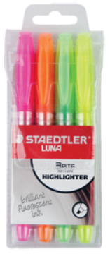 Picture of Staedtler Luna Highlighter Pen Set of 4 (Fluorescent Ink)
