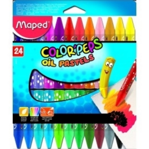 Picture of Maped Color'Peps Oil Pastels Set of 24