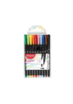 Picture of Maped Graph'Peps Extra Fine Liner Pen Set of 10 Colours